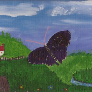 Giant Purple Butterfly story illustration